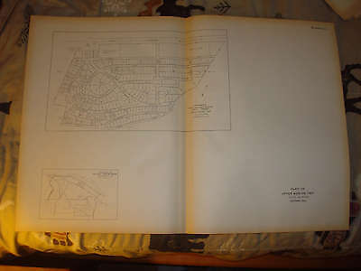 Antique 1927 Upper Merion Township Valley Forge Pennsylvania Map Nr