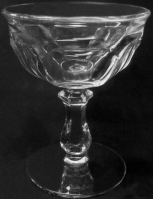 Imperial Glass Clear Crystal Old Williamsburg Tall Sherbet Or Champagne Goblet