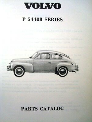 Volvo P544 08 Spare Parts Catalogue 1958 Illustrated
