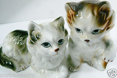 Set of 2 Vintage Fine Bone China Persian Cat Figurine made in Taiwan