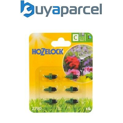 6 x Hozelock 2790 90 Degree Micro Water Jet Spray Micro Irrigation Auto Watering