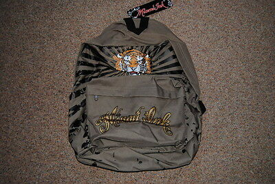 Miami Ink Golden Tiger Backpack Bnwt Official Tattoo Shop Reality Tv Ami James