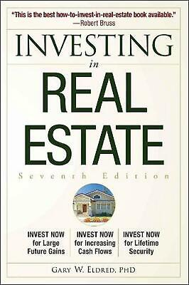 Investing in Real Estate by Gary W. Eldred (English) Paperback Book Free Shippin