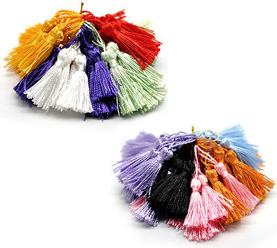 "100PCs Mixed Silky Tassels for Making Cothes Keyring Earring Necklace 1-3/4""-2"""