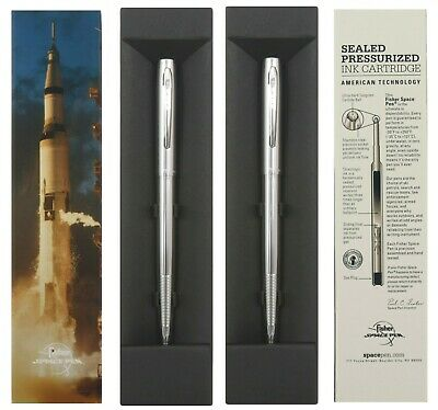 TWO Fisher Space Pen #M4C / Chrome Retractable Space Pens / Gift Boxed