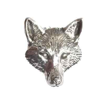 "FOX HEAD ""Birds, Animals & Nature"" Hand Made in UK Pewter Lapel Pin Badge"