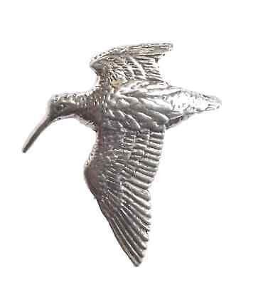 "WOODCOCK ""Birds, Animals & Nature"" Hand Made in UK Pewter Lapel Pin Badge"