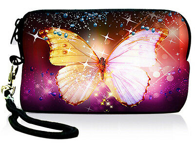 Butterfly Soft Digital Camera Case Bag Pouch Coin Purse Cellphone I phone Pouch