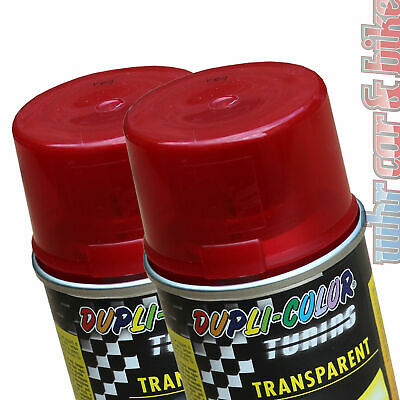 2x150ml Dosen Dupli-Color Tuning Tönungsspray rot Transparent-Lack