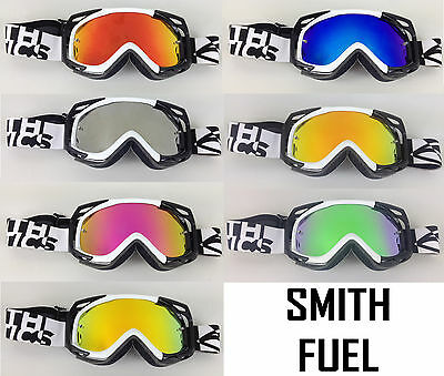 SMITH OPTICS MOTOCROSS MX GOGGLE CHROME MIRROR LENS to fit FUEL V1 V2 bmx mtb