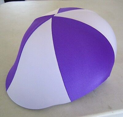 Horse Helmet Cover ALL AUSTRALIAN Purple & Lilac/pale mauve Choose your size