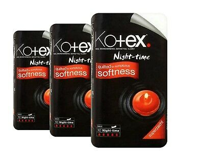 Kotex. Night-Time Pads quilted for sumptuous softness