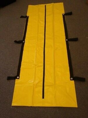 (1) Body Bag Heavy Duty Industrial 7' Human Remain Disaster Dead Pouch Yellow