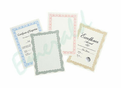 30 x Certificate Craft Papers & Foil Seals A4 (Colour & Style Choice)  Fast Post
