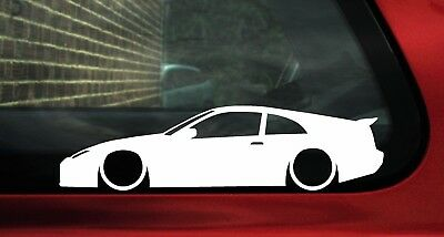 2x LOW Nissan 300zx (z32) silhouette car outline stickers / Decals