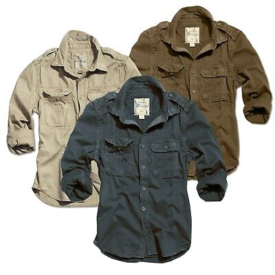 buy online 20174 e0981 SURPLUS 1/1 US Raw Vintage Shirt Hemd Langarm Washed Military Army Herren  S-Xxl