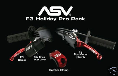 ASV Holiday Pro Brake & Clutch Lever RED  Honda TRX450R TRX 450R 450 R04 05