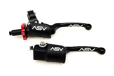 Asv Black F3 Holiday Pro Pack Clutch Brake Levers Dust Covers Raptor 700 Yfz450