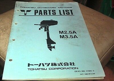 1996  TOHATSU M2.5A M3.5A  Outboards Factory Parts Book