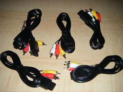 Lot Of 5 New Av A/v Cords Cables For Nintendo Systems 64 / Super Nes , Gamecube