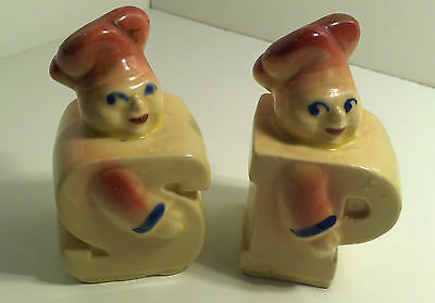 Shawnee Pottery Chef Salt & Pepper Shakers