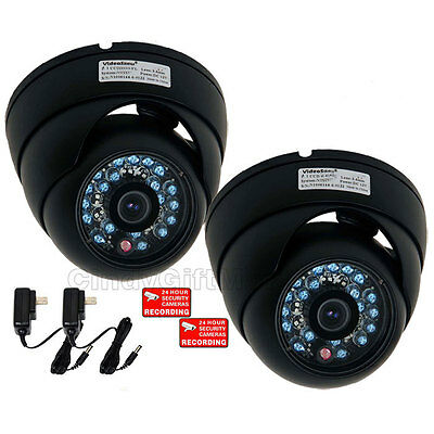 4x Dome Security Camera Color CCD Infrared Day Night Outdoor Wide Angle CCTV m7j
