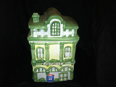 Collectible Ceramic Post Office Cookie Jar Canister Gift For Mail Man Clerk
