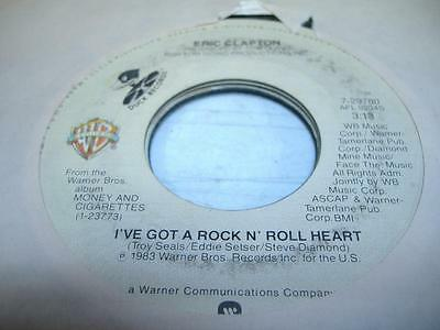 Rock 45 ERIC CLAPTON I've Got a Rock and Roll Heart on Warner Bros. / Duck