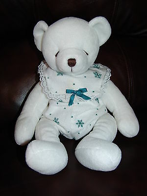 """Russ Berrie and Company Bearella the White Bear w/ Clothes Plush Doll 14"""""""