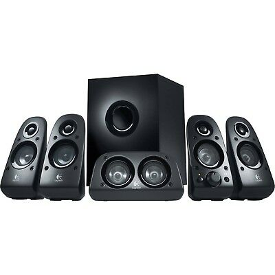 Logitech Z506 Computer Speakers 5.1 Channel Surround Sound 3D Stereo Bass Contrl