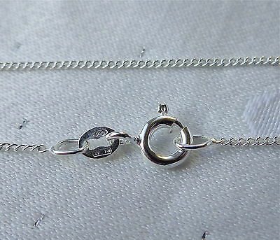 """Fine Light Curb Chain Necklace 16"""" & 18"""" 925 Stirling Silver"""