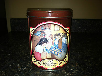 1989 RARE NESTLE TOLL HOUSE MORSELS 50 YEARS OF MEMORIES IN THE MAKING TIN