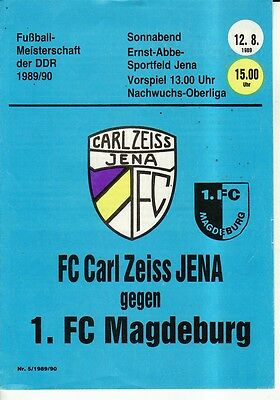 OL 89/90 FC Carl Zeiss Jena - 1. FC Magdeburg (RS-A)