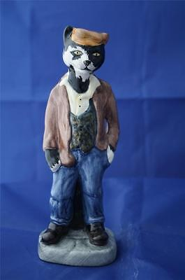 Bairstow Manor Pottery Ratty Cat Figure - Manor Collectables - New