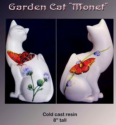 "NEW! Cat ""MONET"" Cats in the Garden Collection Figurine"