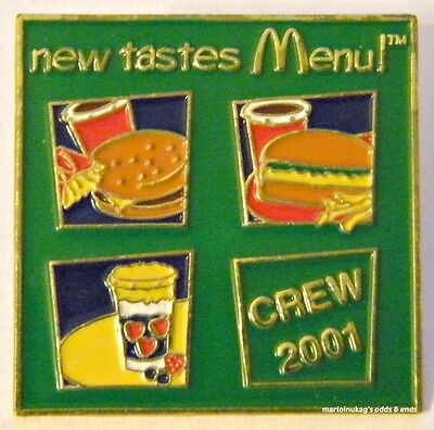 New In Package McDonalds New Tastes Menu Vintage Lapel Pin. FAST SHIPPING!