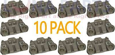 10 Pack Dishwasher Rack Roller For Whirlpool W10195417 AP4538395 PS2579553
