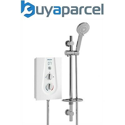 Bristan JOY 3 Thermostatic 9.5kw Electric Shower White - LCD Digital Display