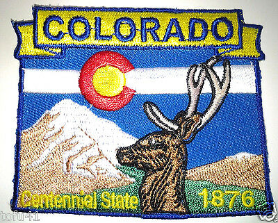 *** COLORADO STATE MAP *** Biker Patch PM6706 EE