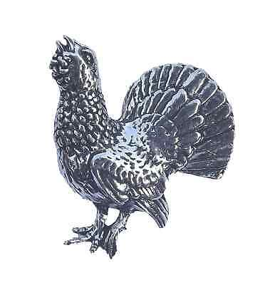 CAPERCAILLIE SCOTTISH BIRD Hand Made in UK Pewter Lapel Pin Badge