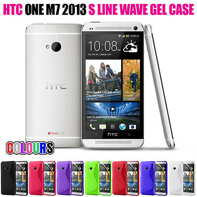 SPORTS S LINE WAVE SOFT GEL SKIN CASE FOR HTC ONE M7 2013