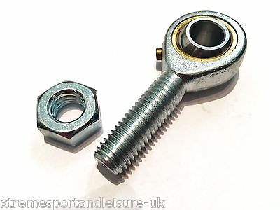M5 5mm MALE RIGHT HAND THREAD ROSE JOINT TRACK ROD END COMPLETE WITH LOCKNUT