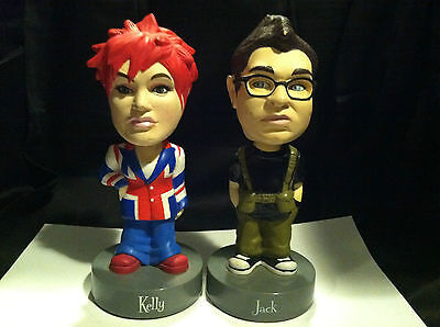 2 Bobble Head Jack And Kelly Osbourne British Invasion Jacket And Camo Green