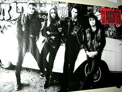 "Slaughter - Original Vintage Promo Poster ""1992""  B&W  Exc new cond."