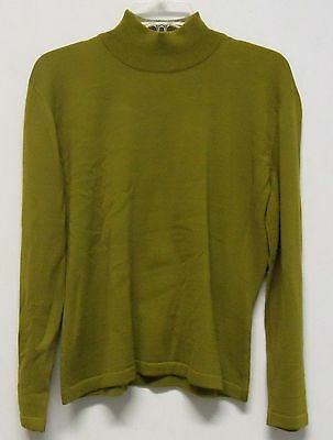 Vintage Saks 5th Avenue The Works Olive Green Pure Wool Sweater