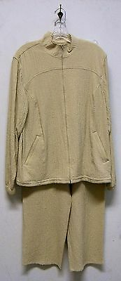 Vintage Orvis Sporting Traditions Cream Casual Pant Suit Size M