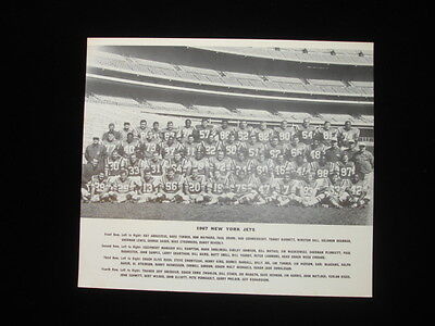"1967 8.5"" by 10"" New York Jets Team Issued Team Photo Joe Namath"