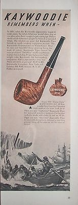 1948 Kaywoodie Briar Pipe Whale Fisherman Row Boat Ship Remembers When ad