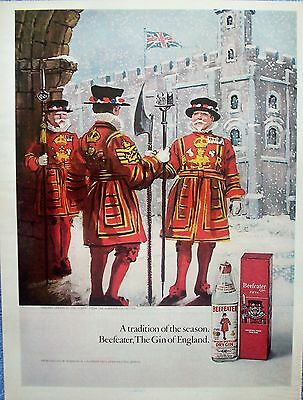 1971 Beefeater Gin Holiday Season At The Tower Union Jack Snow ad