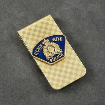 RCMP Canadian Mounted Police Shoulder Flash Money Clip Gold NEW